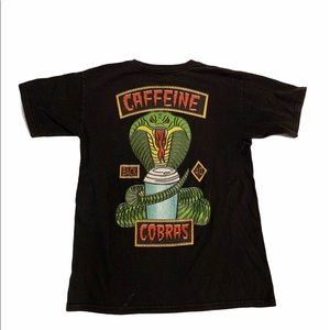 Vintage Chocolate Caffeine Back 40 Cobras T-shirt